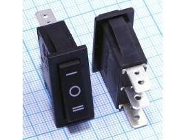KCD3-101/D 250V/16A on-off-on чёрный переключатель