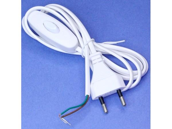 Шнур сетевой для бра 1,9м Feron с выключателем