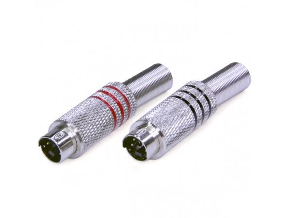 MDN-004 Вилка 4к.на кабель mini DIN-4 PREMIER