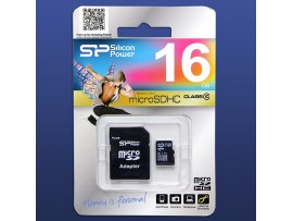 MicroSDHC 16Gb Class 10  Silicon Power Карта памяти