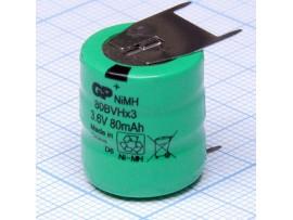 Аккумулятор 3,6V/80 3pin 80BVHX3 NIMH