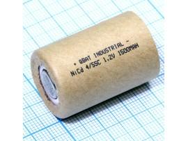 Аккумулятор 1,2V/1500 4/5SC (d=23;L=34) NICd