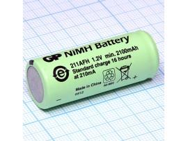 Аккумулятор 1,2V/2000 AAM (d=17 ;L=43) NIMH 4/5 A
