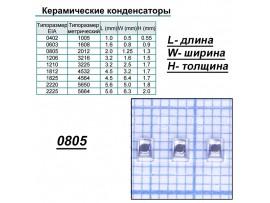 Конд.0805 10µF/10V X7R ЧИП