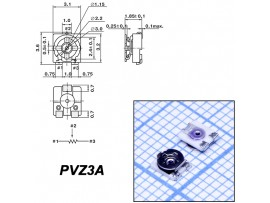 Рез. 10к PVZ3A smd 3,1х3,6