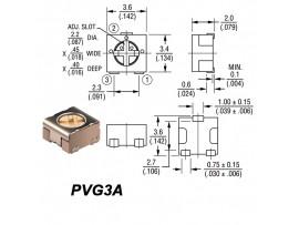 Рез. 500 Ом PVG3A smd 3.6х3.4 Trim
