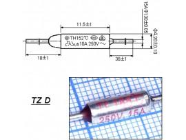 TZ D-185-15A Термопредохранитель