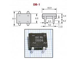DB104  (400V/1A) Диодный мост