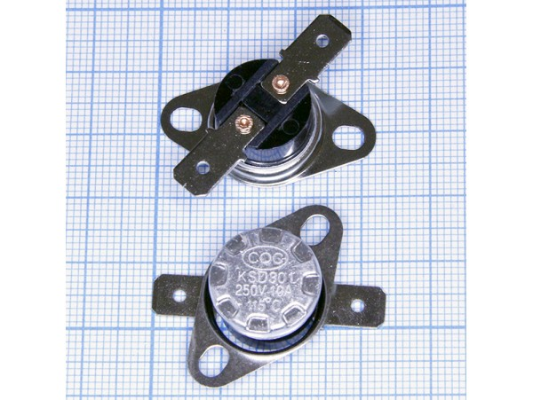 KSD-301-115С 250V10A Термостат нормально замкнутый