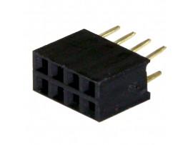 PBD-8  2.54 Розетка 8к.(2х4) на плату