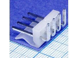 PWL-04R (3,96) вилка 4к.на плату угловая (PW15-4-M-R)