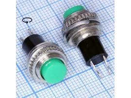 DS-314 зел.125V/3A (12.05) кнопка нормально разомкнутая