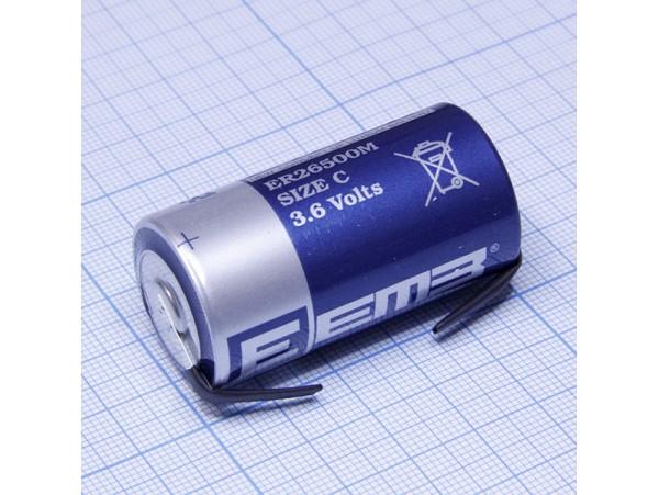 ER26500M-FT батарея 3,6V Lithium с выводами C