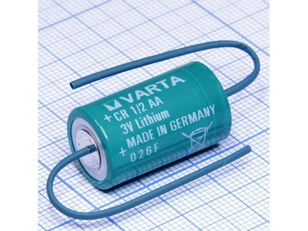 CR1/2AA Батарея 3V VARTA Lithium (d=14;L=25) с выводами