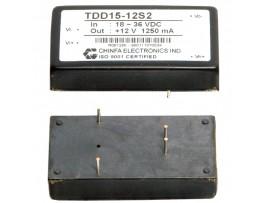 TDD15-12S2 (18V-36V DC>+12V DC/1,25A) Преобр.напр.