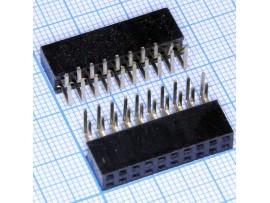 PBD-20R 2.54 Розетка 20к.(2х10) на плату угловая