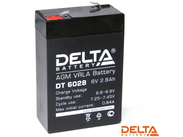 Аккумулятор 6V/2,8Ah DT6028 66х33х98 Delta