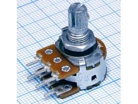 Рез. 2хA50к под гайку d=16 RV16A01F-20-15K-A50K-3