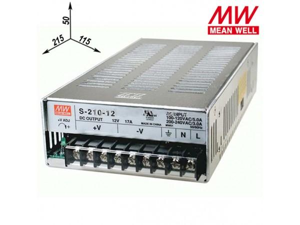 Блок питания 12V(16,5A) Клеммы S-210-12