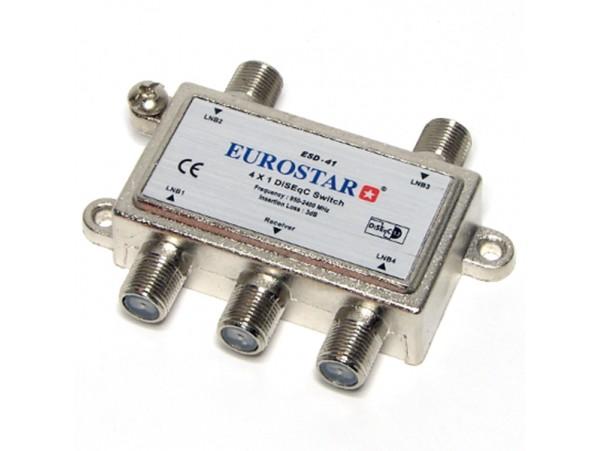 ESD-41 переключатель DiSEqC 4х1 Eurostar