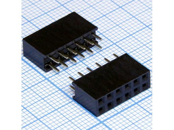 PBD-12 2.54 Розетка 12к.(2х6) на плату