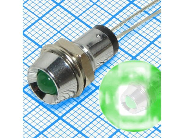 LA07W/G светодиод в корпусе d=5 зеленый