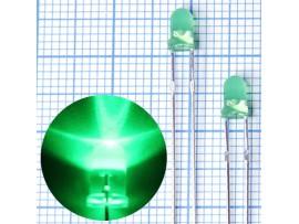 LED DFL-3014UGD зел.d=3 1000мКд