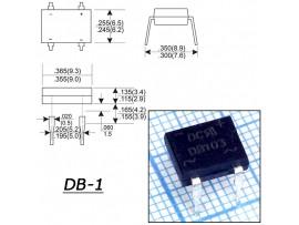 DB103  (200V/1A) Диодный мост