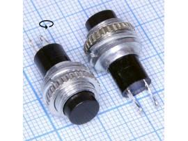 DS-314 чёрн.125V/3A (12.05)кнопка нормально разомкнутая
