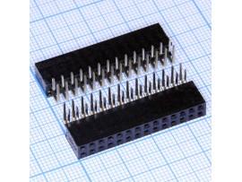 PBD-28R 2.54 Розетка 28.(2х14) на плату угловая