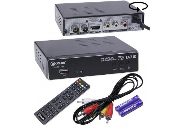 D-COLOR DC1501HD ресивер эфирный DVB-T2,HD