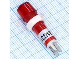 TPN-112R красн. Лампа неон.220V с резистором, d 12 мм