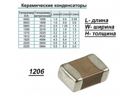 Конд.1206 2,2µF X7R ЧИП 50V