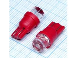 T10 1red 8mm 100° LED bulbs лампа
