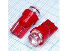 T10 1red 8mm 4-х 140° LED bulbs лампа