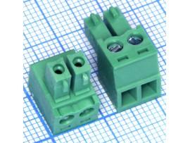 EC381V-02 клеммник 2к шаг 3,8мм XY2500F-C-2