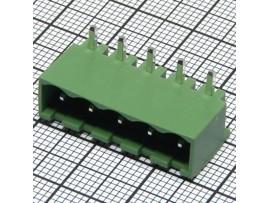 TB-06RD клеммник 5к шаг 5мм на плату с боков.стенками