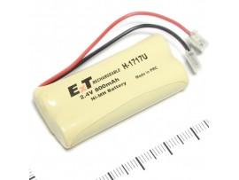 Аккумулятор 2,4V/800(2*d=10;h=43) ExT H-1717