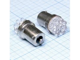 G18 BA15S 9white LED лампа