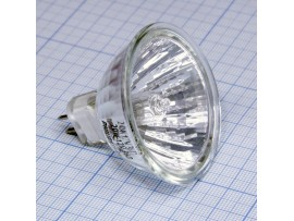 Лампа 12V/20W PHILIPS GU5,3 со стеклом