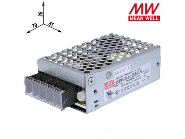 NES-15-12 Преобразователь напряжения ~220V>12V(1.3A)