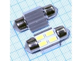 4 LED smd 5730 лампа 30мм W