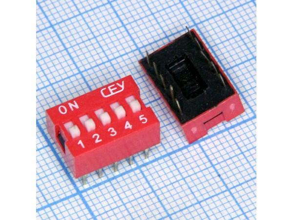 SWD1-5 (DS-05) перекл.DIP 2,54