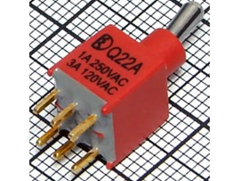 PST-142A Тумблер мини 6pin DPDT (on-on) IP67 (B070ET)