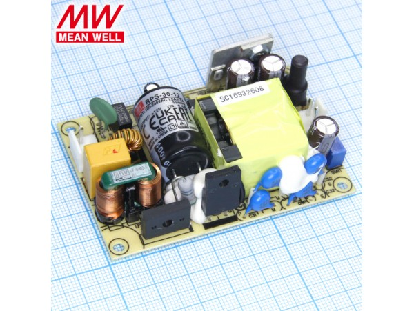 MPS-30-12 Преобразователь напряжения ~220V>12V(2,5A)
