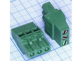 5ESDR-03P клеммник 3к шаг 5мм