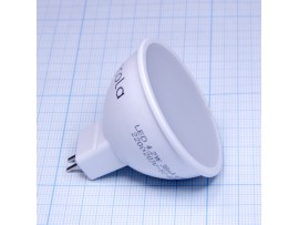 Лампа 220V 4W GU5.3 4000  св/д матовая