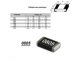 Чип рез.F0805-1,82K 1%