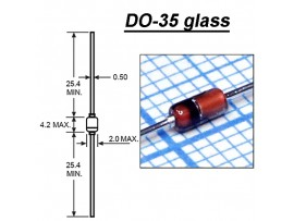 BZX79C47/A52A PBF (47V 0,5W) стекло