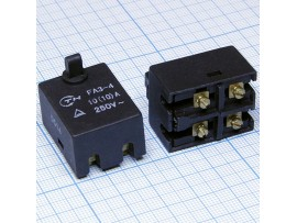 FA140-5/2W 250V/5A 2off-(on) кнопка